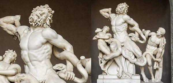 Мраморная скульптурная композиция Лаокоон и сыновья