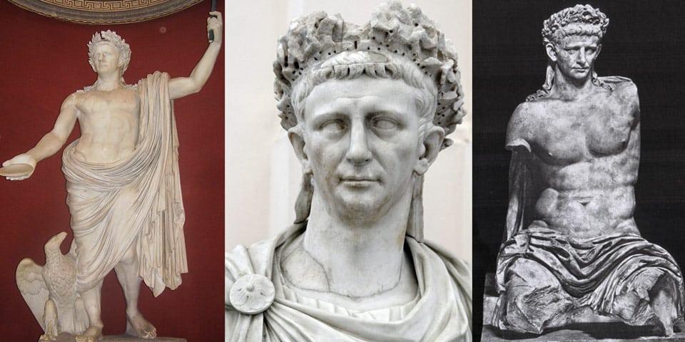 статуя императора Клавдия состоит из его головы и идеальной фигуры греческого бога Юпитера