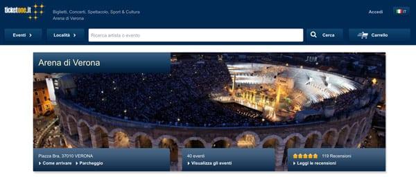Билетные кассы на оперу и театр в Вероне