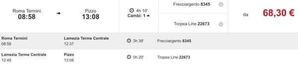 Расписание поездов из Рима в Пиццо