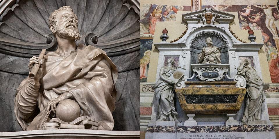Гробница Галилео Галилея в в базилике Санта-Кроче (Basilica di Santa Croce) во Флоренции