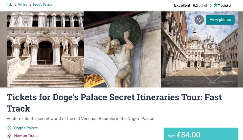 Экскурсия в Дворец Дожей с секретными комнатами и маршрутами