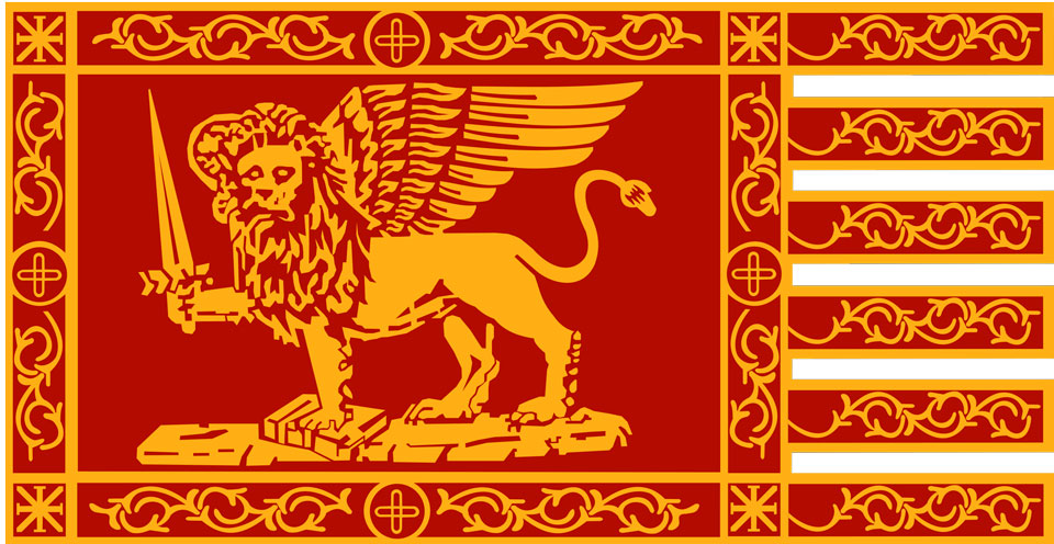 На флаге Венеции изображен лев с мечом