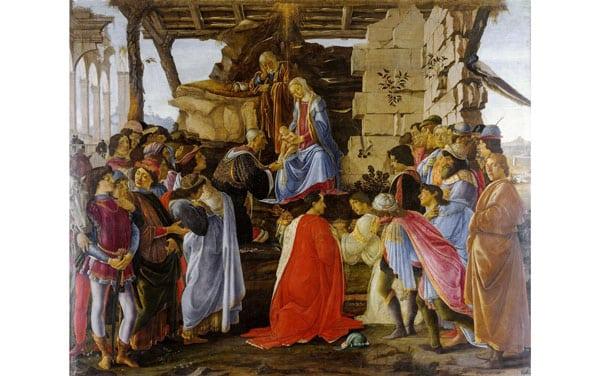 Боттичелли поклонение волхвов картина