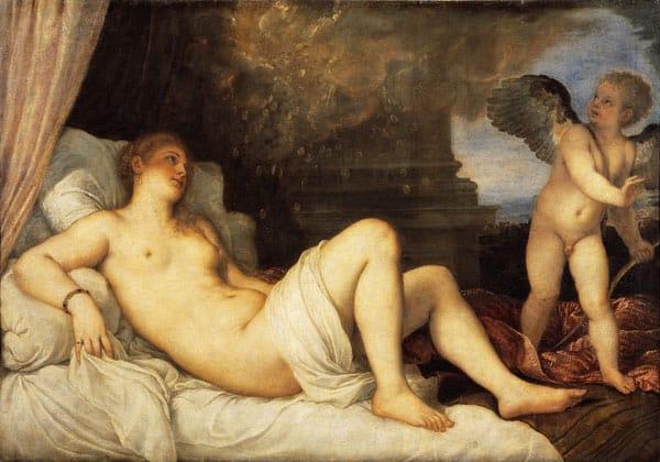 картина Даная, Тициан Вечеллио