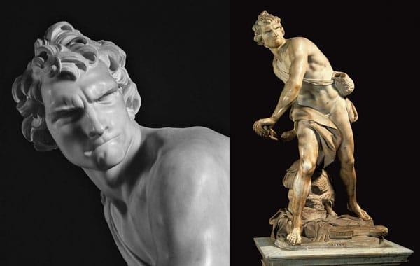 скульптура Давид, Бернини находится в галерее Боргезе