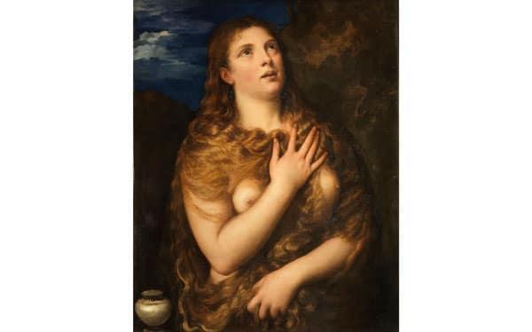 картина Кающаяся Мария Магдалина художник Тициан Вечеллио