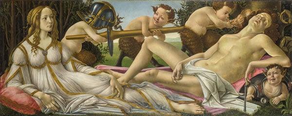 картина Венера и Марс Сандро Боттичелли