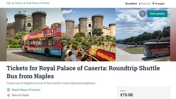 Автобус из Неаполя в Казерту