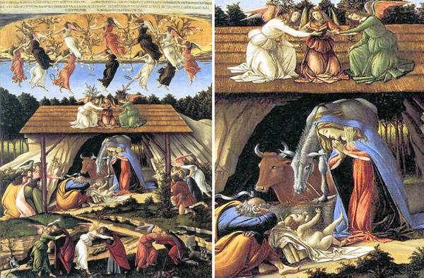 Мистическое рождество картина Боттичелли