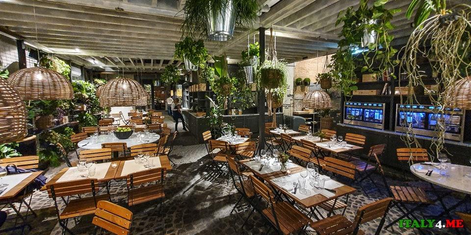 Интерьер ресторана в Риме Hosteria del Mercato