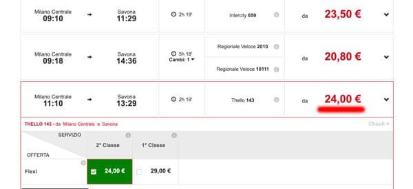 Расписание поездов из Милана в Савону