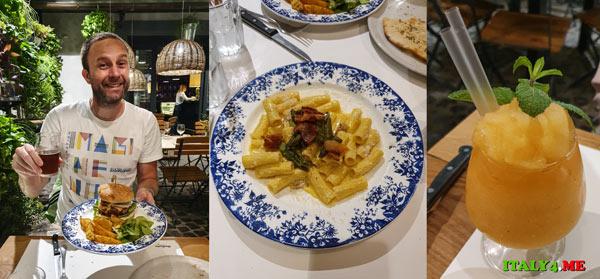 Ужин в римском ресторане Hosteria del Mercato рядом с Испанской лестницей