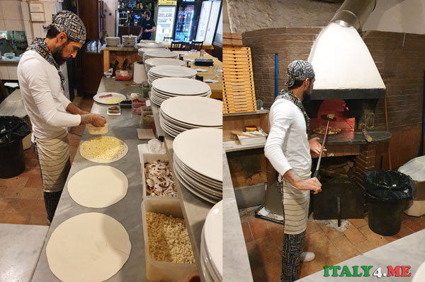приготовление пиццы в Риме