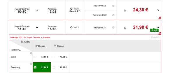 Расписание поездов в Амантеа из Рима, стоимость билетов