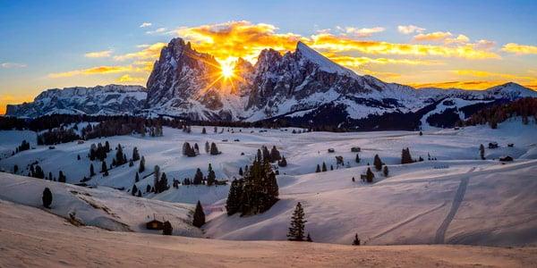 Зима в Доломитовых Альпах