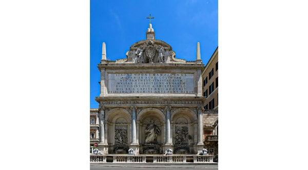 фонтан Аква Феличе в Риме 1585-1588 год
