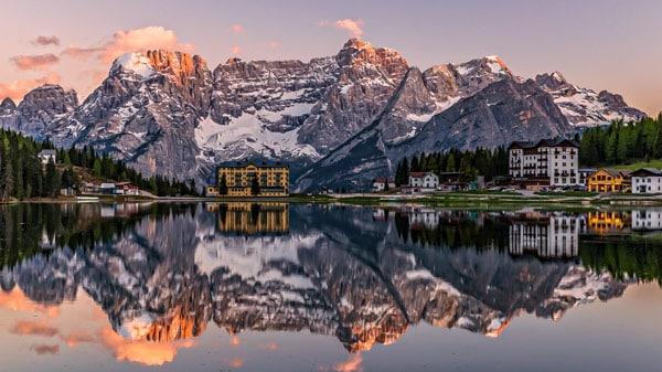 Озеро Мизурина (Lago di Misurina) в Доломитовых альпах