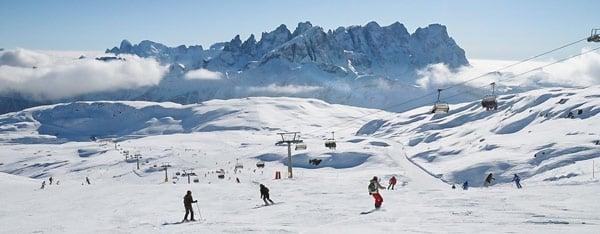 Горнолыжный курорт Тре-Валли (Tre Valli) в Доломитовых Альпах
