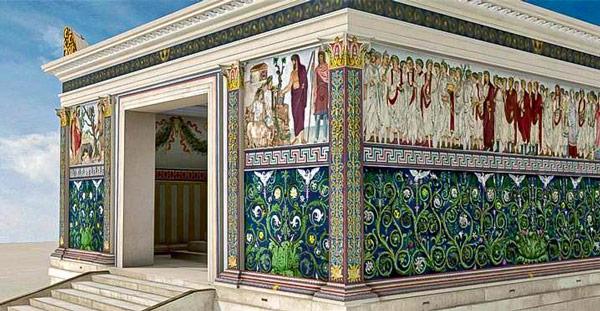 Реконструкция Алтаря мира в Риме