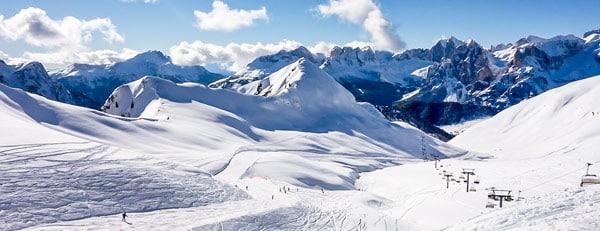 горнолыжный курорт Валь-ди-Фасса (Val di Fassa) в Доломитах