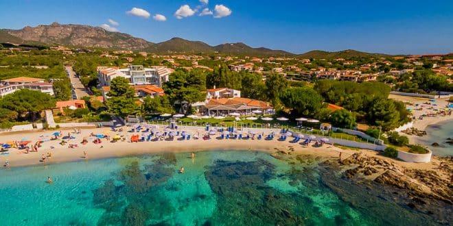 отель в Ольбии, Сардиния на первой линии пляжа
