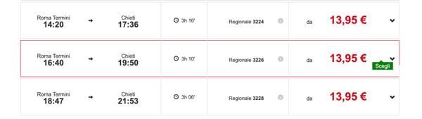 Расписание поездов из Рима в Кьети