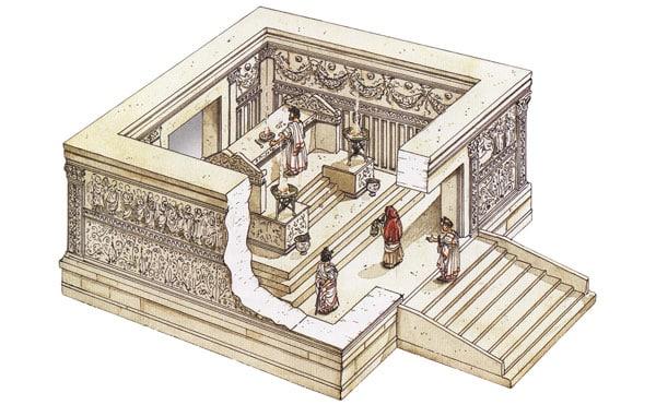 жертвоприношения на алтаре мира в Древнем Риме