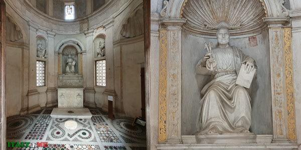 Статуя святого Петра внутри Темпьетто Браманте