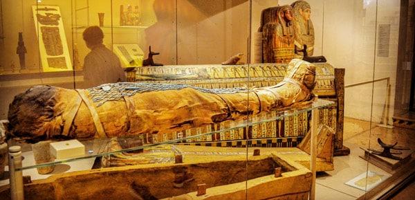 Египетский зал в археологическом музее Болоньи