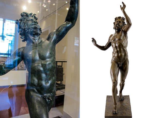 Бронзовая статуя Танцующий фавн найденная в Помпеях