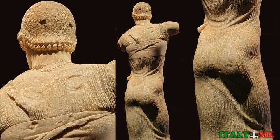 Юноша из Мотии – вид сзади, греческая скульптура V век до нашей эры