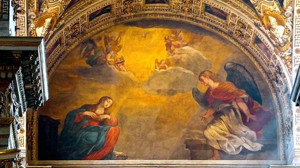 Благовещение Лодовико Карраччи в соборе святого Петра, Болонья