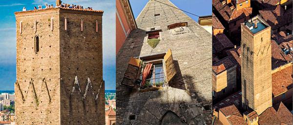 Средневековая башня Прендипарте (Torre Prendiparte) в Болонье
