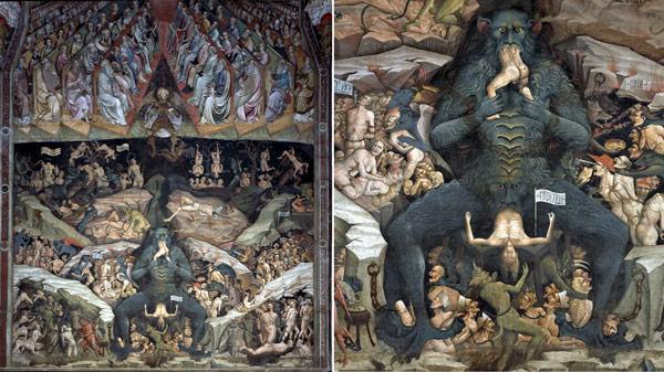 Фреска Джованни да Модена в базилике святого Петрония
