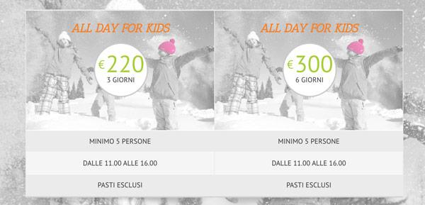 Стоимость обучения катанию на лыжах для ребёнка в школе на курорте Бормио