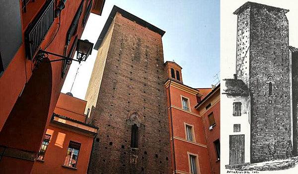 башня Галуцци (Torre dei Galluzzi) в Болонье