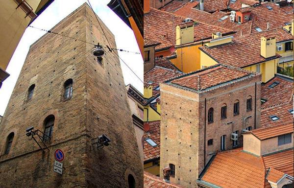 Башня Гвидоцаньи (Torre dei Guidozagni) в Болонье