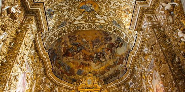 Фрески над алтарем в кафедральном соборе Сан-Герландо в Агридженто