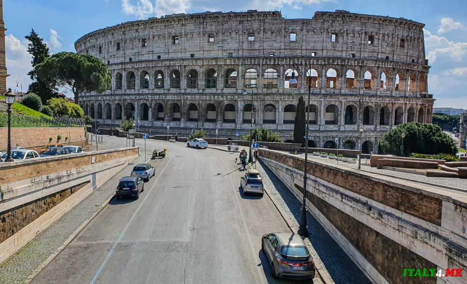 Смотровая на Колизей без людей