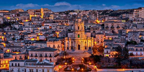 Город Модика Сицилия