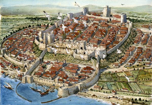 Крепость города Кальяри в средние века
