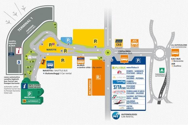 Схема аэропорта в Неаполе