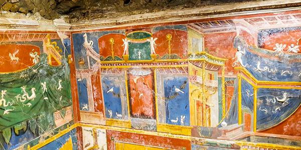 Фрески в музее археологии в Позитано