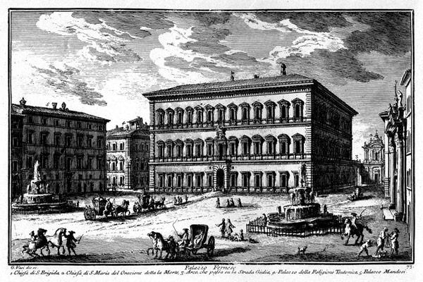 Палаццо Фарнезе в Риме