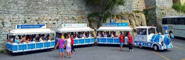Туристический поезд в Сан-Марино
