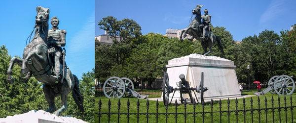 Памятник Президенту США Джексону (Andrew Jackson) в Вашингтоне