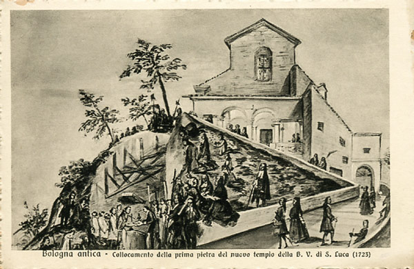 Святилище Мадонна-ди-Сан-Люка в Болонье в 1723 году