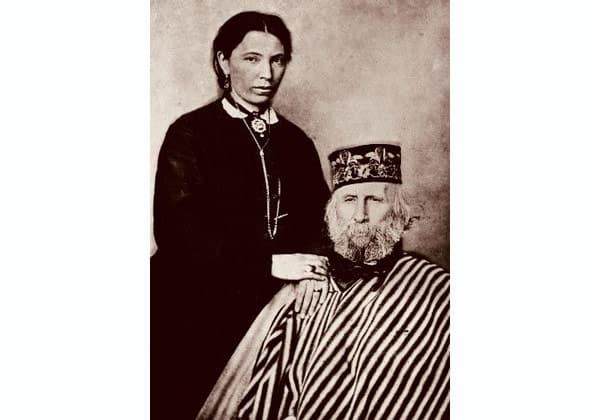 Анита и Джузеппе Гарибальди