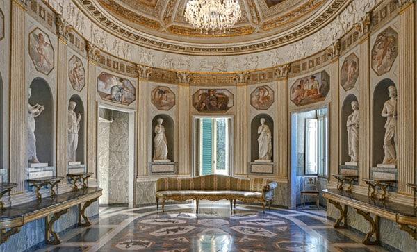Интерьер Casino Nobile на вилла Торлония в Риме